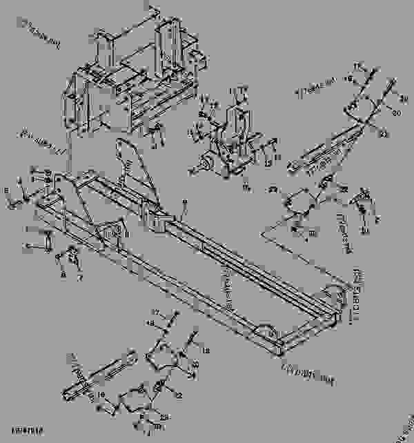 Parts scheme Attaching Parts - BACKHOE John Deere 46 - BACKHOE - 46, 47, 48, 375, 447, 448 and 485 Backhoes (for 4000 Series Compact Utility Tractor) Backhoe 46 Attaching Parts | 777parts