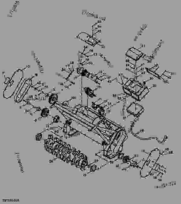 Parts scheme Mulching Head Components (MH60) - LOADER, SKID-STEER, ATTACHMENT John Deere CP24C - LOADER, SKID-STEER, ATTACHMENT - Worksite Pro Rotary Equipment Mulching Head Mulching Head Components (MH60) | 777parts