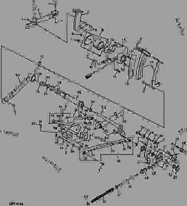 john deere 4300 tractor wiring diagram forward and reverse pedals ( - 430573) - tractor, compact ... #3