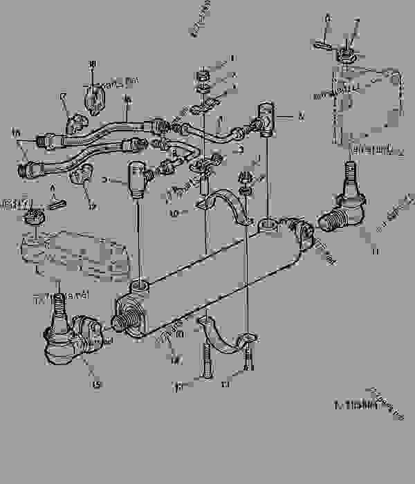 Parts scheme HYDROSTATIC STEERING-CYLINDER(WITH FWD) [02B21] - TRACTOR John Deere 1641 - TRACTOR - 1641, 1641F Tractors 60 STEERING SYSTEM AND BRAKES HYDROSTATIC STEERING-CYLINDER(WITH FWD) [02B21] | 777parts