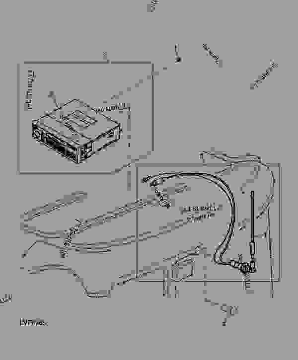 radio and antenna ( 346096) tractor john deere 5525 tractor Ford Tractor Electrical Wiring Diagram