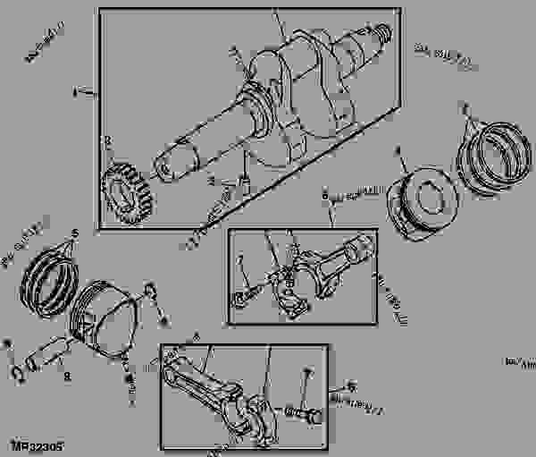 crankshaft and piston assembly