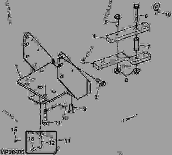 Tractor Hitch Parts : Drawbar hitch weldment tractor compact utility john