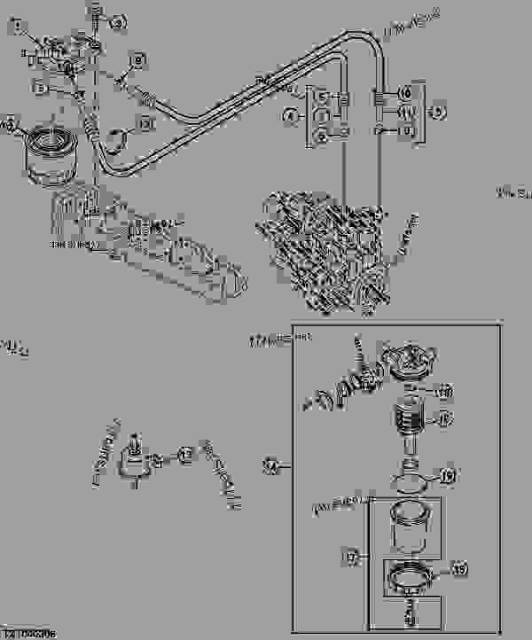 bobcat excavator parts diagram fuel filter
