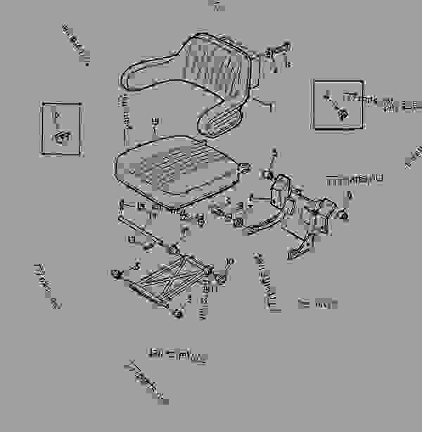 Parts scheme DELUXE SEAT,ADJUSTABLE [02F13] - TRACTOR John Deere 3135 - TRACTOR - 3135 (50000-) Tractor 90 OPERATOR'S STATION DELUXE SEAT,ADJUSTABLE [02F13] | 777parts
