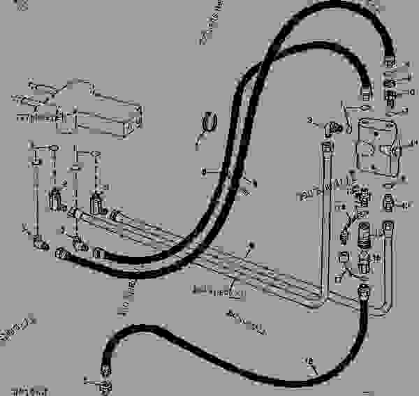 Hydraulic Circuit From Loader Control Valve To Relief
