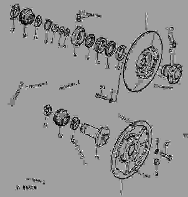 Parts scheme VARIABLE CYLINDER SHEAVES [02B13] - COMBINE John Deere 940 - COMBINE - Combines 930, 940 56 VARIABLE CYLINDER SHEAVES VARIABLE CYLINDER SHEAVES [02B13] | 777parts