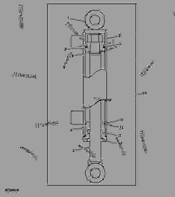 Parts scheme Cylinder Assembly (AY11H 60 and AY11E 72, 4-IN-1 Buckets) - ATTACHMENTS John Deere AR12 - ATTACHMENTS - AD11, AD12, AM11, AR10, AR12, AY11, AY12 Bucket Loader Attachments (Frontier) Cylinder Assembly (AY11H 60 and AY11E 72, 4-IN-1 Buckets) | 777parts