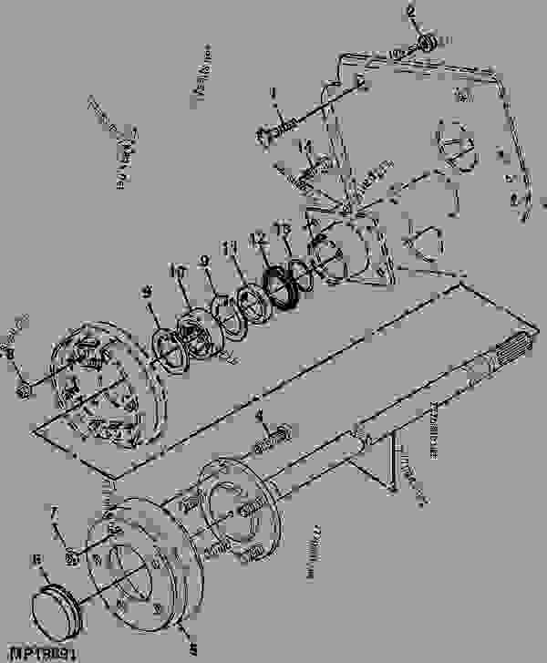 rear axle  b24  - utility vehicle john deere e gator - utility vehicle