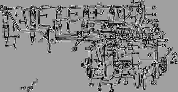 fuel injection pump nozzles and fuel lines tractor john deere rh 777parts net John Deere 3020 Electrical Diagram John Deere Ignition Switch Diagram