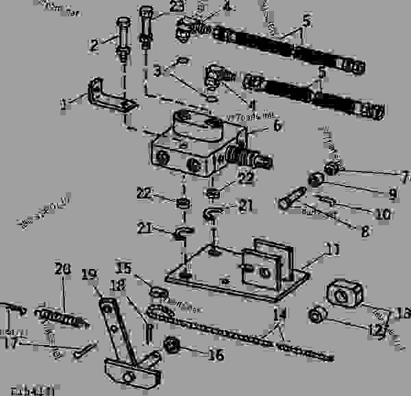 Parts scheme SELECTOR CONTROL VALVE HYDRAULIC SYSTEM (SINGLE REMOTE HYDRAULIC OUTLET TRACTORS) [C15] - MOWER, CONDITIONER John Deere 1219 - MOWER, CONDITIONER - 1217 and 1219 Mower Conditioners SELECTOR CONTROL VALVE HYDRAULIC SYSTEM (SINGLE REMOTE HYDRAULIC OUTLET TRACTORS) [C15] | 777parts