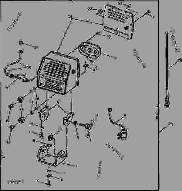 audiovox fender mount radio and antenna [01h02] tractor john deere 111 wiring schematic john deere 2940 wiring diagram #7