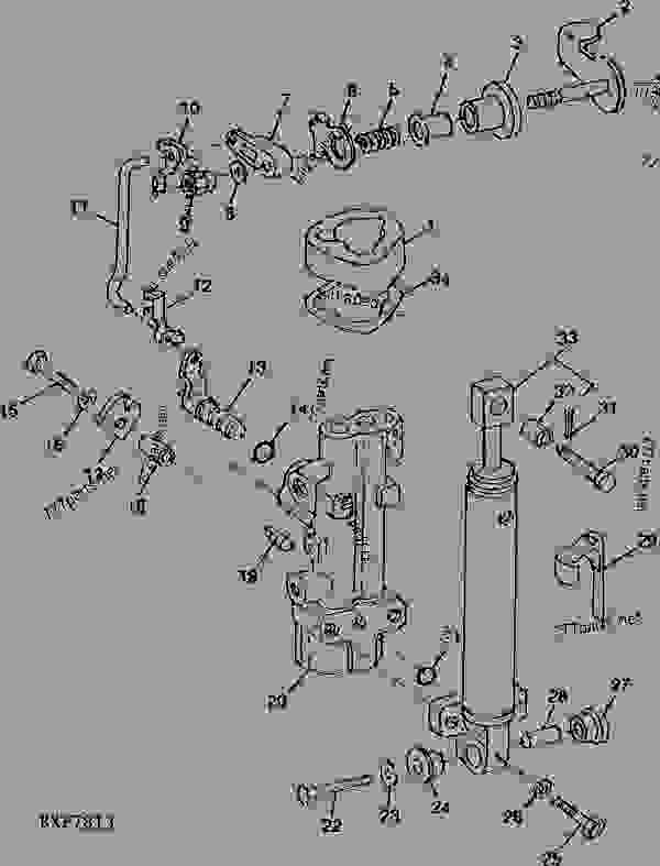 Parts scheme SEAT POSITION VALVE HOUSING PARTS AND CYLINDER (EUROPEAN VERSION) - TRACTOR John Deere 4455 - TRACTOR - 4055, 4255 and 4455 Tractors (North American Edition) OPERATOR'S STATION SEAT POSITION VALVE HOUSING PARTS AND CYLINDER (EUROPEAN VERSION) | 777parts
