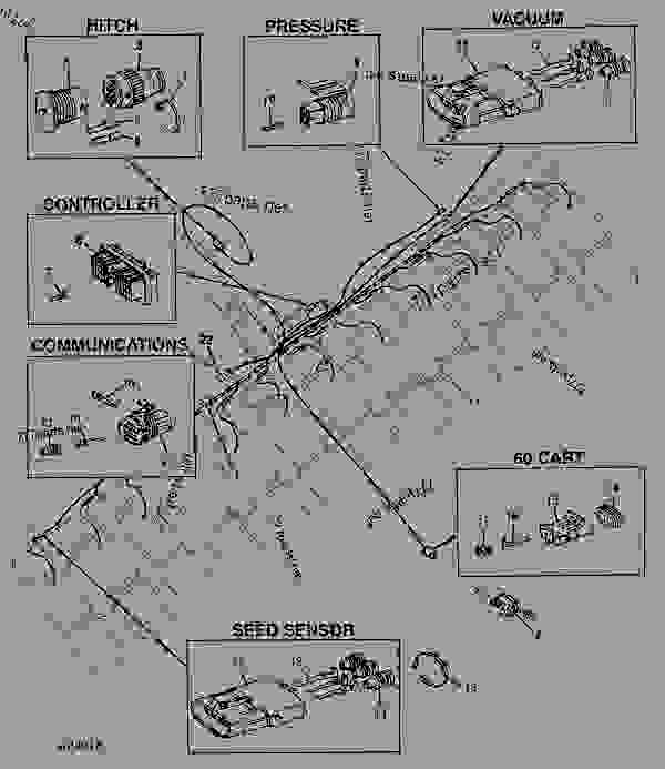 John Deere 1770 Planter Wiring Diagram : Seedstar monitor wiring harness planter illustrated