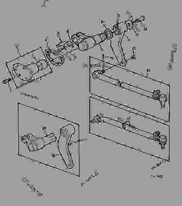 Parts scheme STEERING ARM AND DRAG LINK [02A16] - TRACTOR John Deere 1641 - TRACTOR - 1641, 1641F Tractors 60 STEERING SYSTEM AND BRAKES STEERING ARM AND DRAG LINK [02A16] | 777parts