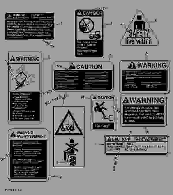 Tractor Pto Warning Decals : Warning and safety decals tractor john deere