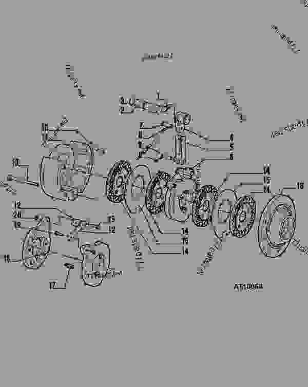 Brake Assembly Tractor John Deere 5400 5300. List Of Spare Parts. John Deere. Disk 5400 John Deere Pto Diagram At Scoala.co