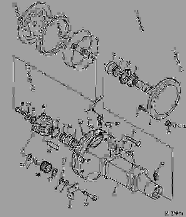 Parts scheme FRONT AXLE [01G07] - COMBINE John Deere 942 - COMBINE - 932, 942 Combines 50 POWER TRAIN FRONT AXLE [01G07] | 777parts