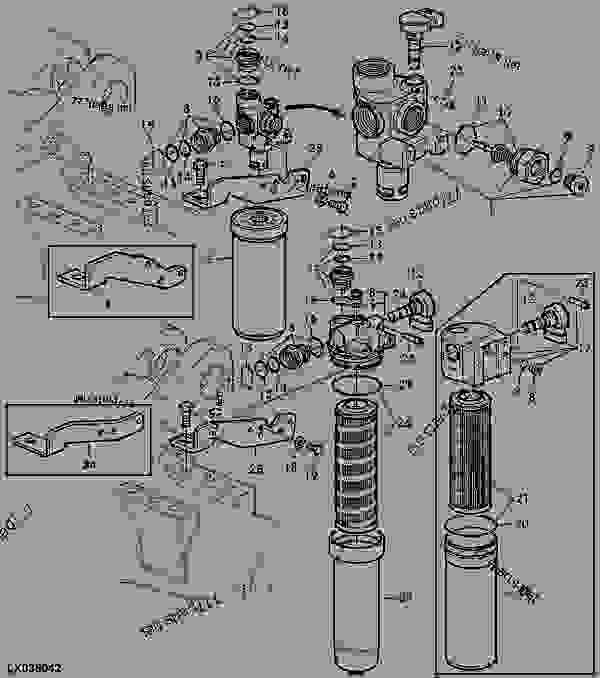 John Deere Hydraulic Pump Diagram on Diesel Fuel Filters