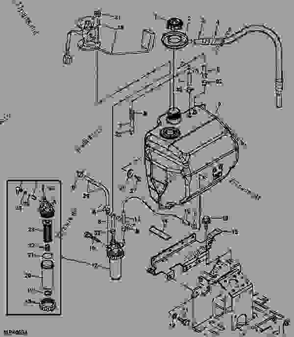 Wiring Diagram John Deere 2305 : John deere fuel system diagram tractor engine