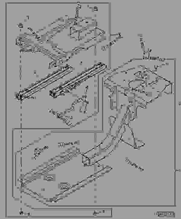 Parts scheme Seat Platform  ( - 312164)  ( - 312164) - BACKHOE, LOADER John Deere 110 - BACKHOE, LOADER - 110 Tractor Loader Backhoe (Worldwide Edition) 090 090 OPERATOR'S STATION AND MISCELLANEOUS Seat Platform  ( - 312164)  ( - 312164) | 777parts