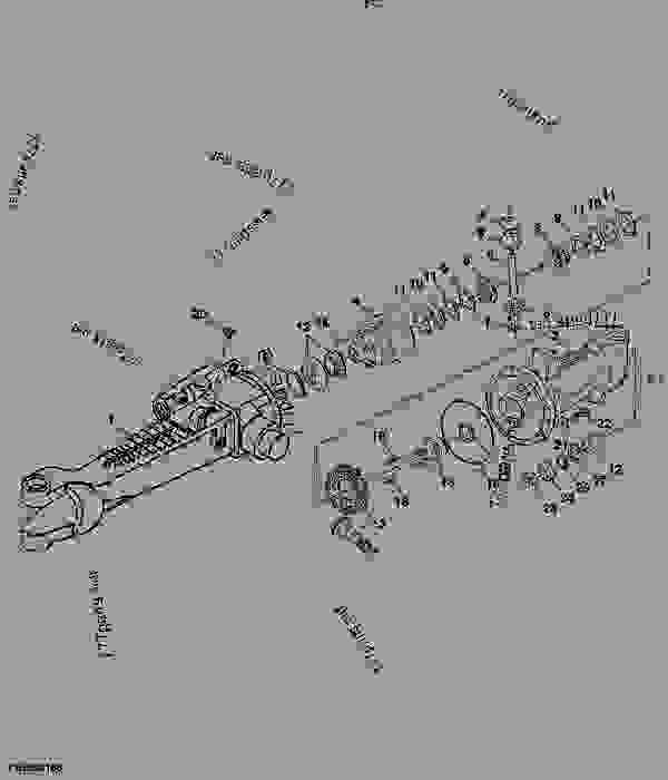 FRONT DRIVE AXLE - COMPONENTS (ZF APL 335) - TRACTOR John
