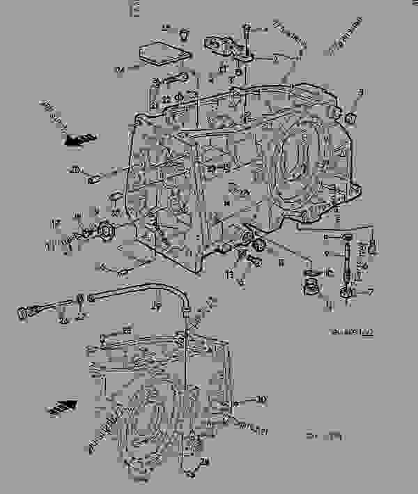 Parts scheme TRANSMISSION CASE [01G05] - TRACTOR John Deere 3135 - TRACTOR - 3135 (50000-) Tractor 50 POWER TRAIN TRANSMISSION CASE [01G05] | 777parts