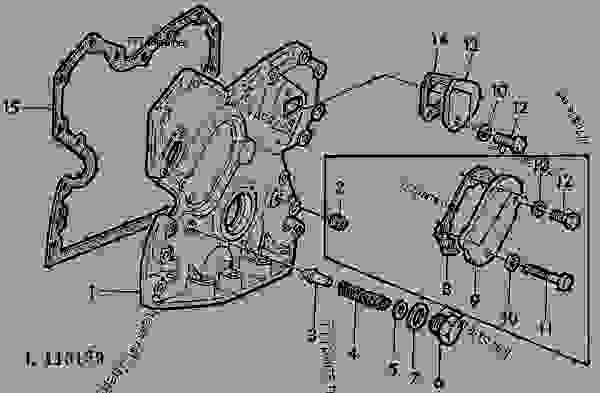 TIMING GEAR COVER [01A20] - TRACTOR John Deere 1120 ... on john deere 2640 alternator wiring diagram, john deere 850 alternator wiring diagram, john deere 4020 alternator wiring diagram, john deere 2940 alternator wiring diagram, john deere 250 skid steer alternator wiring, john deere engine wiring diagram, john deere 2040 alternator wiring diagram, john deere 24 volt wiring diagram,