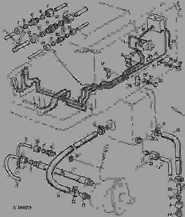 john deere 955 engine  john  tractor engine and wiring diagram