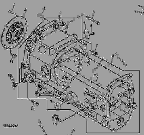 CLUTCH HOUSING (HST) - TRACTOR, COMPACT UTILITY John Deere 4520 - TRACTOR,  COMPACT UTILITY - 4520 Compact Utility Tractor POWER TRAIN CLUTCH HOUSING  (HST) | 777parts777parts