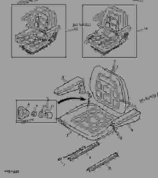 Parts scheme OPERATOR'S SEAT SC85 (CAB) - TRACTOR John Deere 5090G - TRACTOR - 5090G Tractor (European Edition) Operator's Station OPERATOR'S SEAT SC85 (CAB) | 777parts