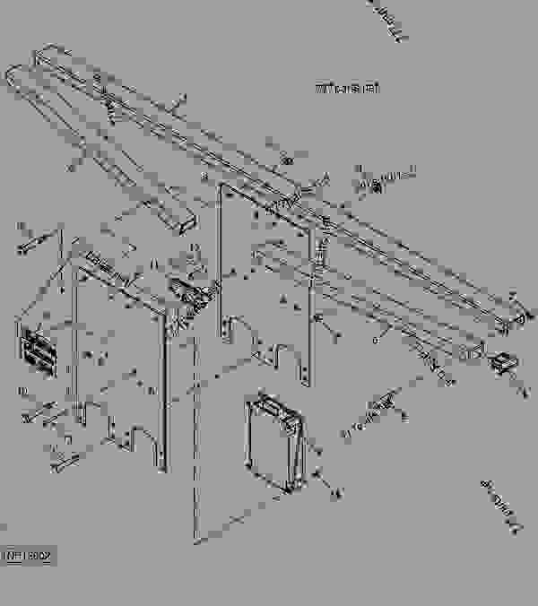 Parts scheme Wing Stops and Accudepth Controller (12 Ft Main Frame) - PLOW, CHISEL John Deere 2400 - PLOW, CHISEL - 2400 Chisel Plow Wing Stops and Accudepth Controller (12 Ft Main Frame) | 777parts