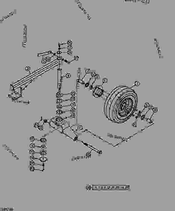 Parts scheme Wheel and Tire Assembly (PR84B Angling) - LOADER, SKID-STEER, ATTACHMENT John Deere CA25 - LOADER, SKID-STEER, ATTACHMENT - Worksite Pro Rotary Equipment Angling Power Rake (B-Series) Wheel and Tire Assembly (PR84B Angling) | 777parts