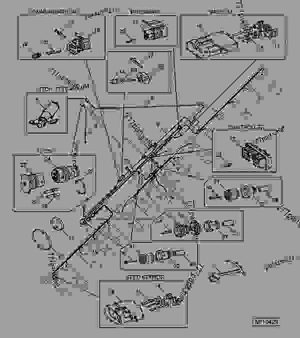 John Deere 1770 Planter Wiring Diagram : Seedstar monitor wiring harness narrow row folding