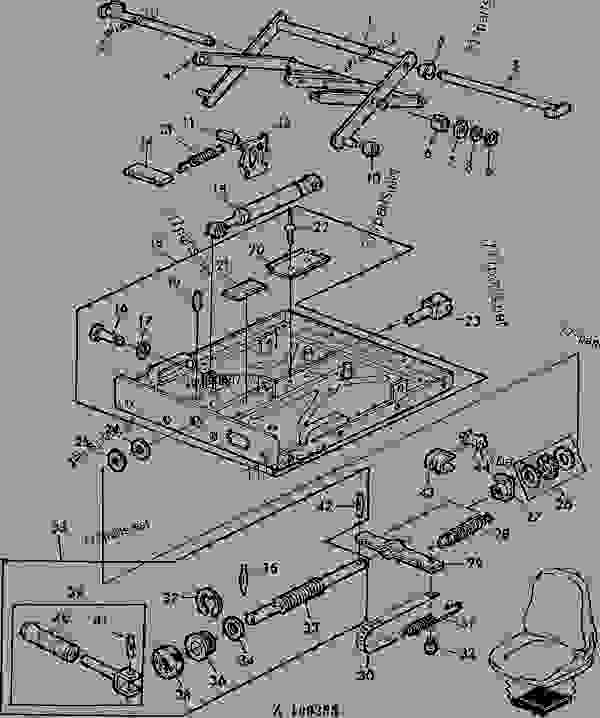 Parts scheme SEAT ADJUSTMENT [03B21] - COMBINE John Deere 4435 Hydro - COMBINE - 4435 and 4435 Hydro Combines 90 OPERATOR'S STATION SEAT ADJUSTMENT [03B21] | 777parts
