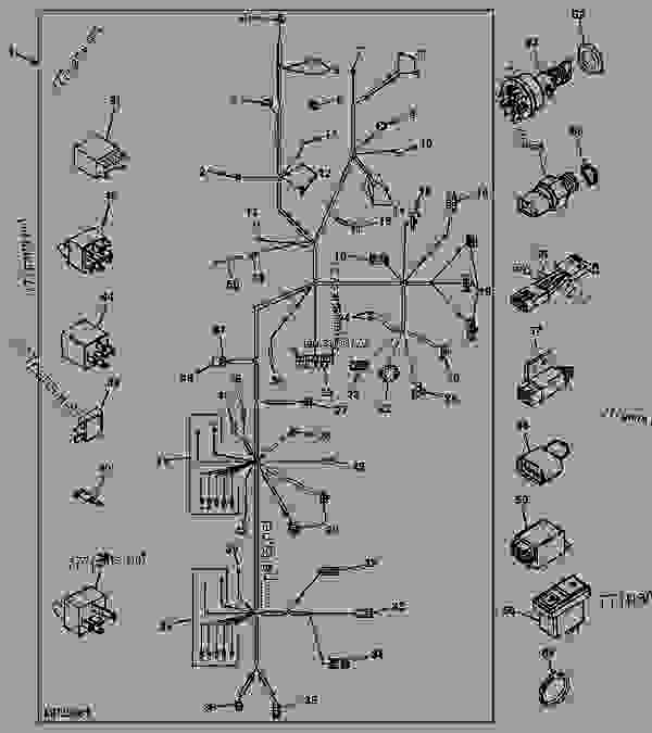 WIRING HARNESS (EUROPEAN) (SN -) [8] - TRACTOR ... on john deere 4410 parts diagram, john deere 4410 oil filter, john deere 4410 fuel pump, john deere 4410 specifications, john deere 4410 fuel system, john deere 4410 cover, john deere 4410 battery,