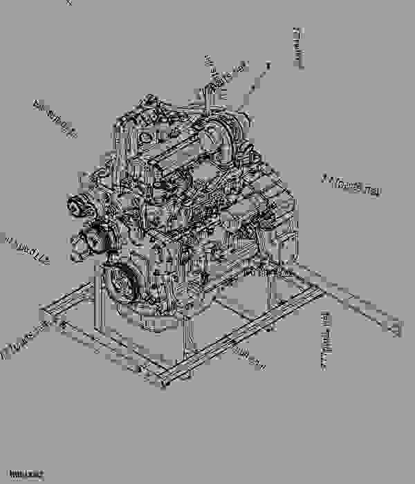 Implement Replacement Parts : Replacement engine tractor john deere d