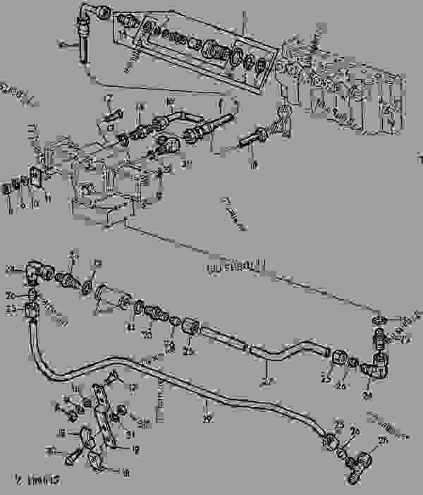 Parts scheme DIAL-A-MATIC HYDRAULIC LINES [03F17] - COMBINE John Deere 1166 - COMBINE - 1166, 1166HY/4 Combines 70 HYDRAULIC SYSTEM DIAL-A-MATIC HYDRAULIC LINES [03F17] | 777parts