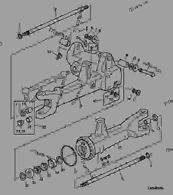 Front End Steering besides Cub Cadet Engine Drive Shaft Diagram also 273568 My New Used John Deere La110 44 Snow Blower also John Deere X110 Garden Tractor Spare Parts furthermore Steering Tower Group. on front pto drive shaft