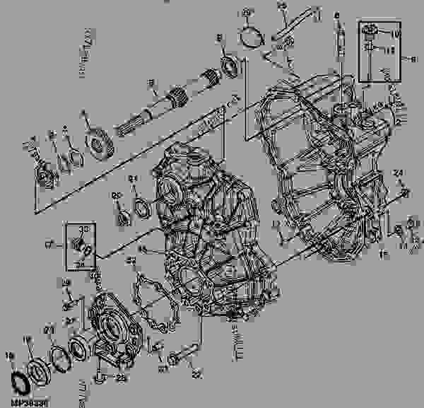 john deere gator transmission parts diagram