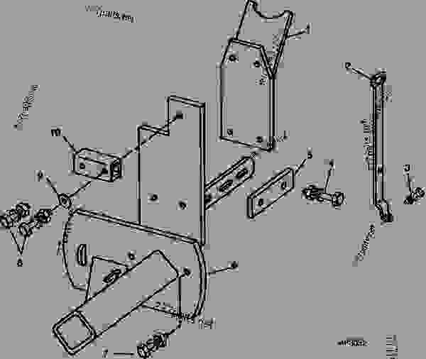 Parts scheme MARKER ADAPTER (    -1985) TWO 1250 PLANTERS WITH FOLDING MARKER [B22] - HYDRAULIC MARKER John Deere HYDRAULIC MARKER - HYDRAULIC MARKER - Hydraulic Marker MARKER ADAPTER (    -1985) TWO 1250 PLANTERS WITH FOLDING MARKER [B22] | 777parts
