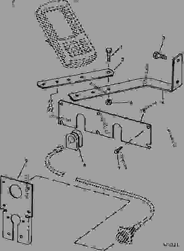 Parts scheme MONITOR MOUNTING BRACKETS (60, 70 SERIES 4WD TRACTORS) - CART, COMMODITY John Deere 1910 - CART, COMMODITY - 1910 Commodity Air Cart ELECTRICAL MONITOR MOUNTING BRACKETS (60, 70 SERIES 4WD TRACTORS) | 777parts