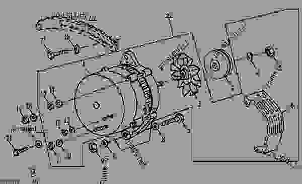alternator and attaching parts ( 817881) backhoe, loader john  john deere 310d wiring diagram #12