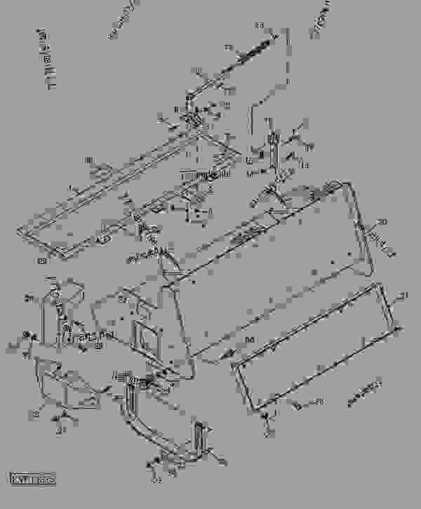 Parts scheme Tiller Frame (RT55, RT73) - LOADER, SKID-STEER, ATTACHMENT John Deere CA25 - LOADER, SKID-STEER, ATTACHMENT - Worksite Pro Rotary Equipment Rotary Tiller Tiller Frame (RT55, RT73) | 777parts