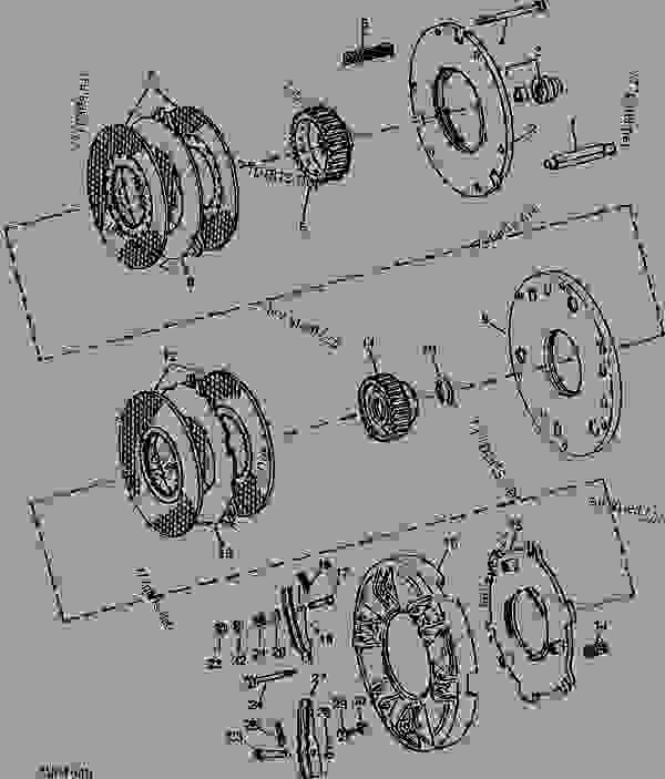 transmission and pto clutch (quad-range and syncro-range) [03b12 ... 4430 john deere clutch diagram  777parts
