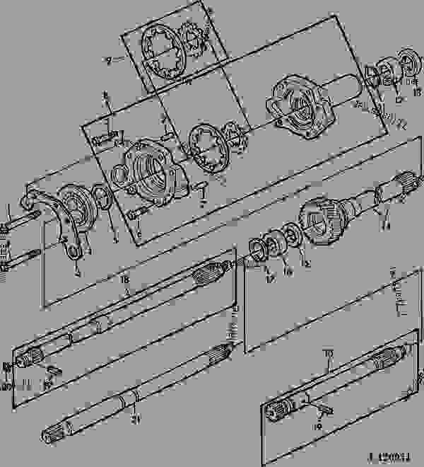 Transmission Oil Pumpdrive Shaft With Continuous Running Pto540. List Of Spare Parts. John Deere. John Deere Pto Diagram 2150 At Scoala.co