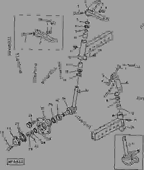 John Deere 4430 Engine Diagram as well 755 S John Deere Ignition Wiring Diagram additionally 4qmdh John Deere Body Mower Craftsman Kohler Engine together with 3000 Ford Tractor Parts Diagram furthermore Front Axle Seals Bearings. on 1070 john deere steering parts