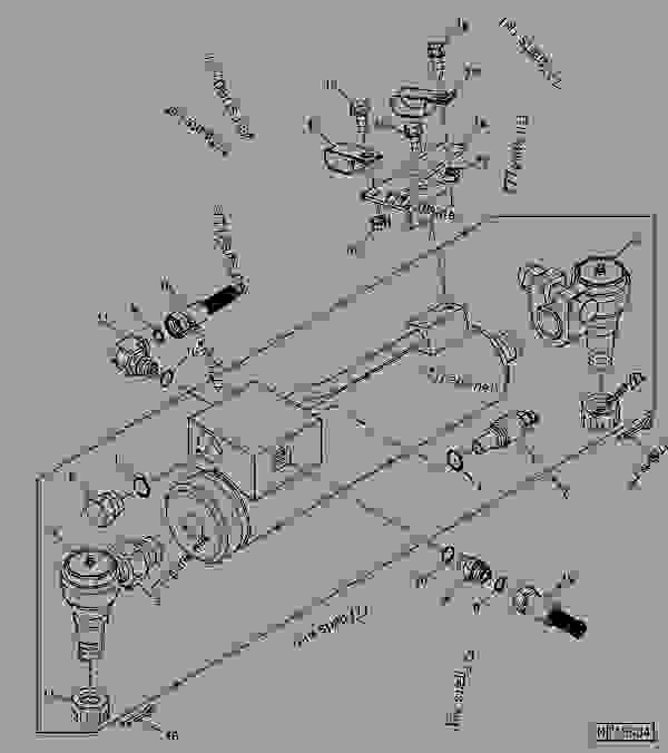 Parts scheme Steering Cylinders And Fittings (L.H. Illustrated)  (4001 - ) - SPRAYER John Deere 4920 - SPRAYER - 4920 Sprayer STEERING AND BRAKES Steering Cylinders And Fittings (L.H. Illustrated)  (4001 - ) | 777parts
