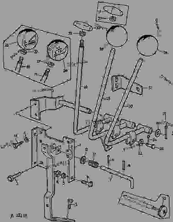 Parts scheme OPERATING CONTROLS,RIGHT-HAND [01C24] - COMBINE John Deere 940 - COMBINE - Combines 930, 940 26 OPERATING LEVERS OPERATING CONTROLS,RIGHT-HAND [01C24] | 777parts