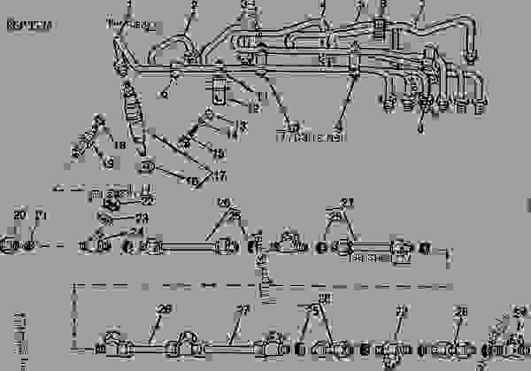 Parts scheme Fuel Lines  (165527 - ) - TRACTOR John Deere 4455 - TRACTOR - 4055, 4255 and 4455 Tractors (North American Edition) FUEL AND AIR Fuel Lines  (165527 - ) | 777parts